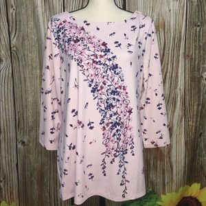 Charter Club Pink Floral Blouse